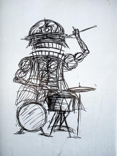 Street Art drummer, Nathan Bowen