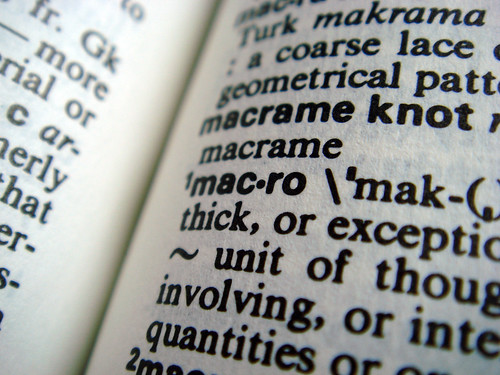 dictionary macro | by Cubosh