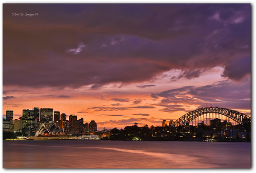 longexposure sunset cloud colour weather geotagged photography flickr cityscape sydney australia nsw sydneyharbour sydneyoperahouse sydneyharbourbridge markbimagery