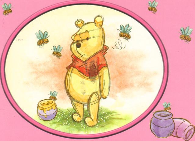 Winnie the Pooh Classic Drawing Postcard