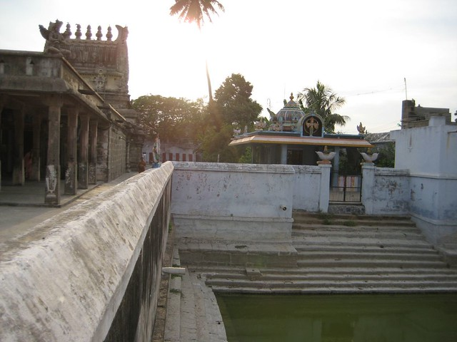 Temple Tank and the right side Praharam