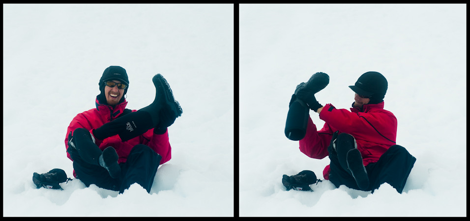 Snow In The Boots