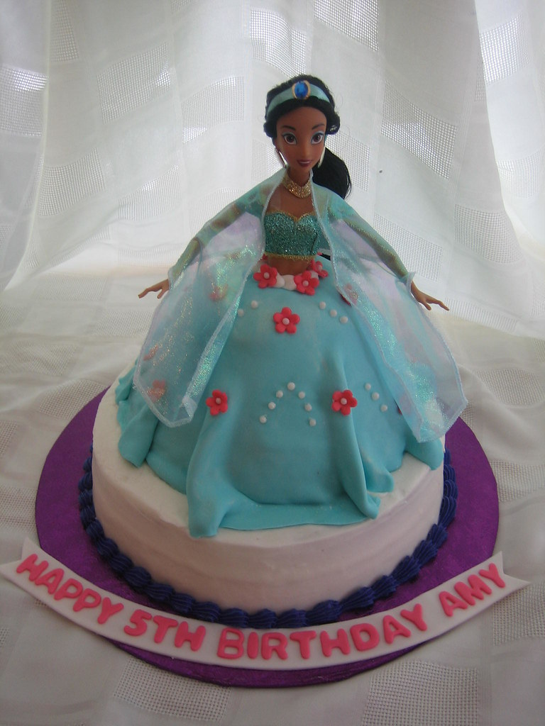 Excellent Jasmine Doll Dress Birthday Cake Jasmine Doll Dress With F Flickr Funny Birthday Cards Online Barepcheapnameinfo