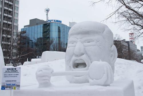 donald john trump トランプ 大統領 president 祭り festa festival 雪 snow landscape veduta 札幌 sapporo hokkaido 北海道 japan d800