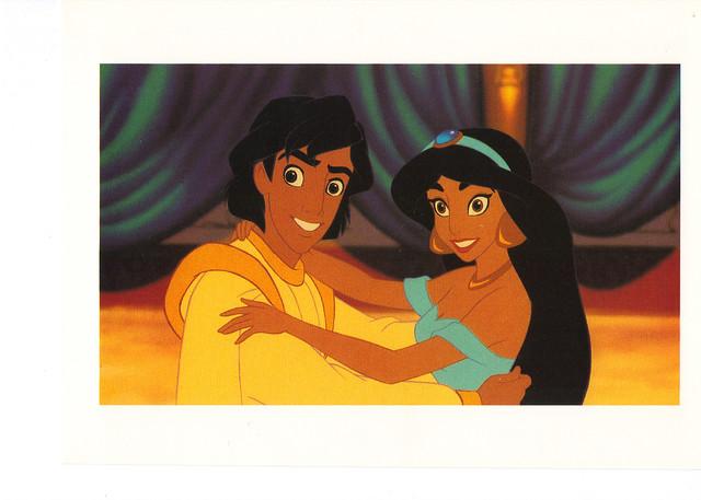 Aladdin & Jasmine Postcard