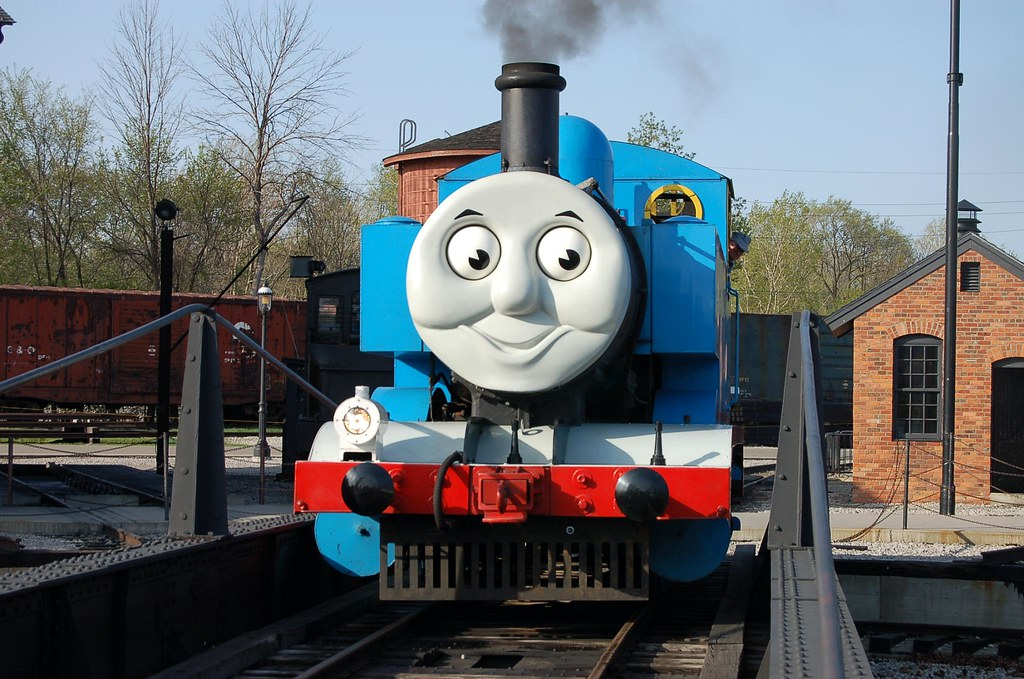 Thomas the Tank Engine enters a Shed at Greenfield Village ...