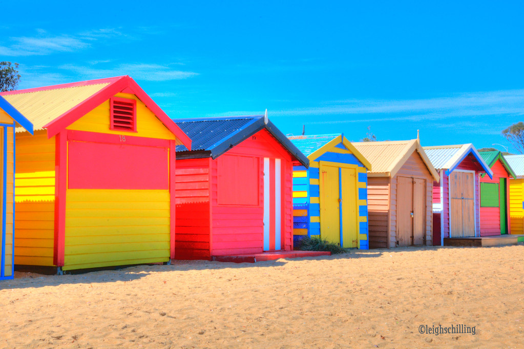 14d7b8e24 On Black: Dendy St Brighton, Beach Bathing Boxes by Leigh Schilling ...