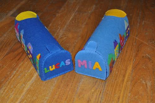 Felt mailboxes   by littlesisterhandmade