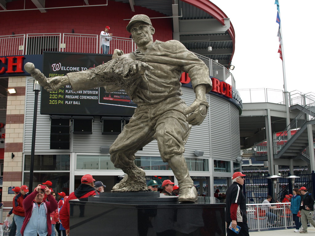 Walter Johnson statue from the front
