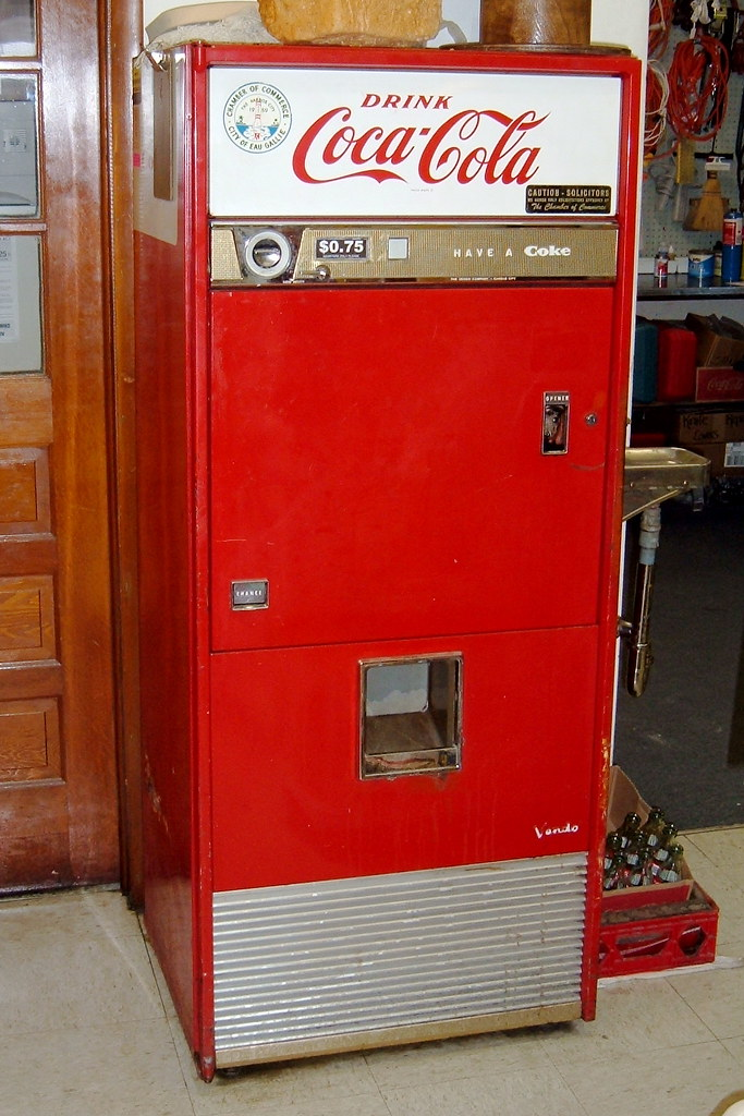 Image result for modified Coke machine