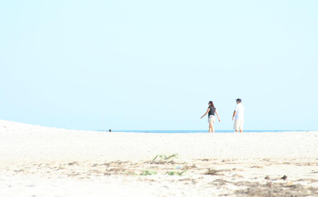 A couple at Litchfield Beach