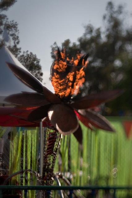 Maker Faire 2009: Fire flower