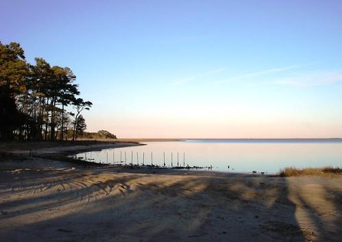 sunset sky rural bay virginia seaside easternshore burtonsshore