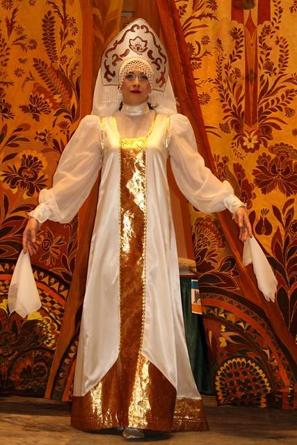 Russian cultural dancer of Sudarushka in Anchorage