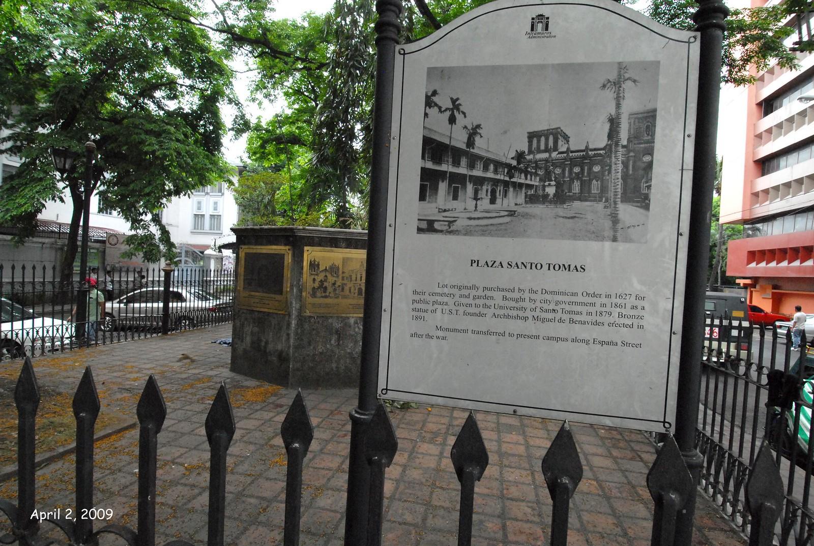 Plaza Santo Tomas, Intramuros, Manila, Philippines