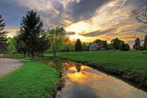 sunset ohio reflection landscape geotagged nikon hdr d300 photomatixpro lock4park canalfultonohio starkcountyohio nikongp1 afsdx1685gvr
