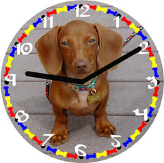 Fritz Pet Dachshund Clock | by customclockface