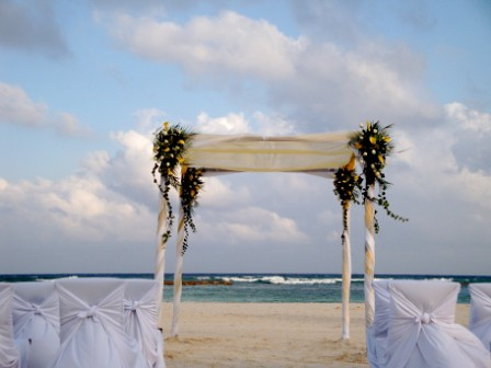 Beachfront wedding - Wedding Decorations | by Grand Velas Riviera Maya