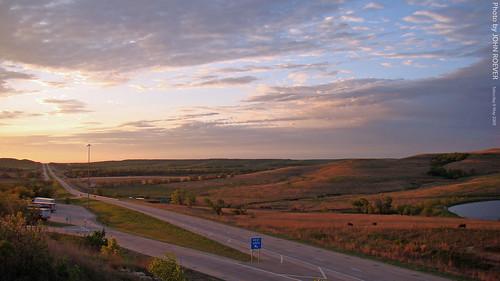 road morning rural sunrise countryside spring highway may kansas interstate prairie 2009 i70 restarea flinthills us40 interstate70 wabaunseecounty