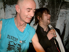 BP Fallon & Shane MacGowan DJing w/ Shane also singing @ Death Disco Belfast | by bp fallon