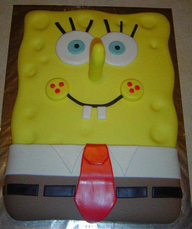 Pleasing Spongebob Birthday Cake A Photo On Flickriver Funny Birthday Cards Online Alyptdamsfinfo