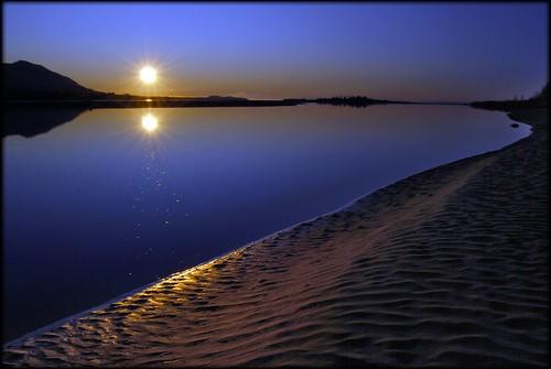 blue sunset sky usa sun seascape reflection beach nature water alaska river landscape outdoors nikon scenic matsu 1855mmf3556g knik naturesfinest flickrchallengegroup flickrchallengewinner d40x