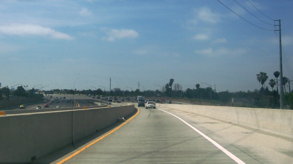 California 55 Carpool Lane connector merging into I-5 Nort