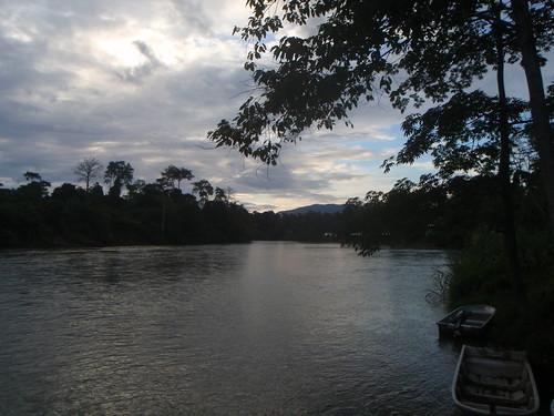 silhouette sunrise sungaiperak kgpasirkandang jawang
