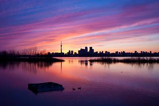 Purple Sunset over Toronto | by Dr. Ilia