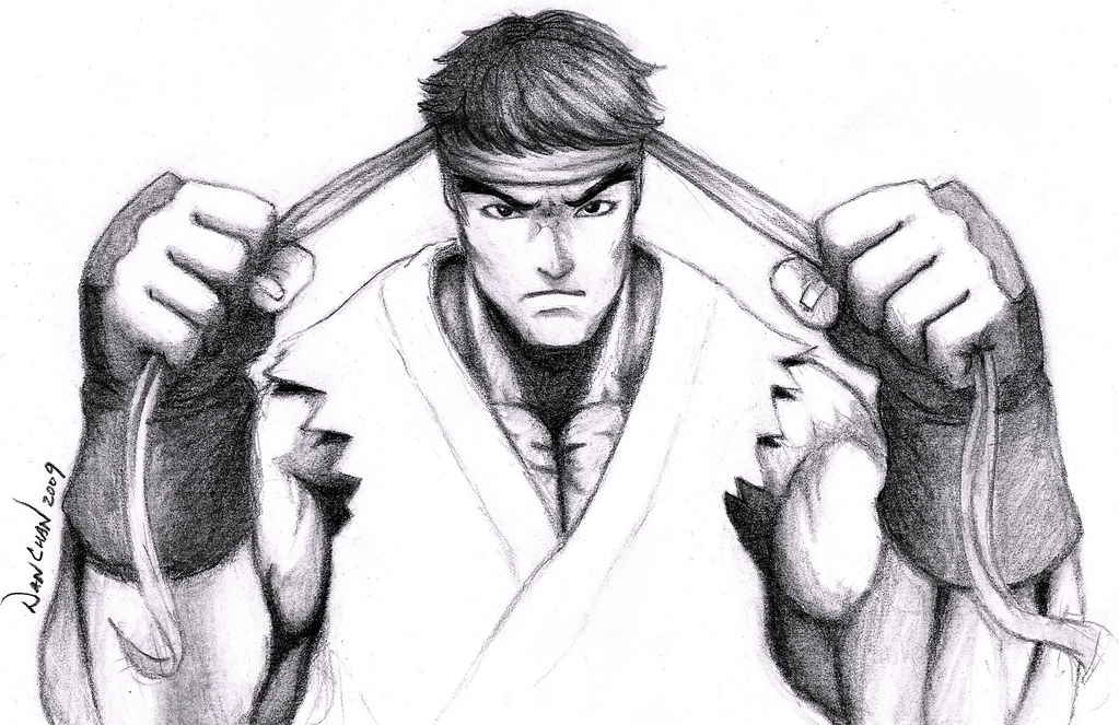 Ryu Final Drawing Here Is The Final Version As Promised Flickr