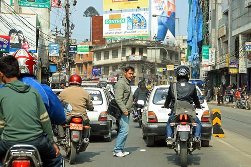 Street traffic in Kathmandu