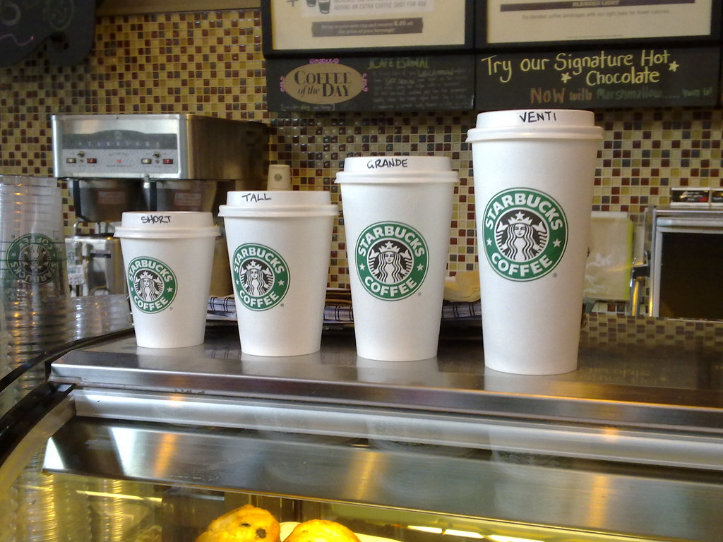 Australian Starbucks Cup Sizes Four Sizes Of Coffee Cups S