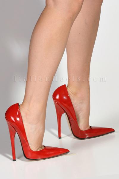 6e585274619 3100 ItalianHeels.com High Heels 6 inch Stiletto Red Patent Mules ...