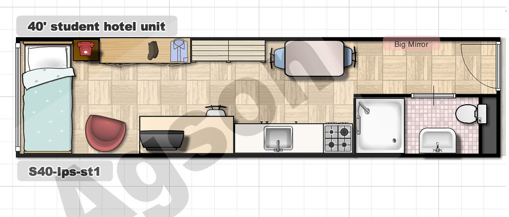 Shipping Container Floor Plan W Kitchen Www Agson Co Uk Fp Flickr