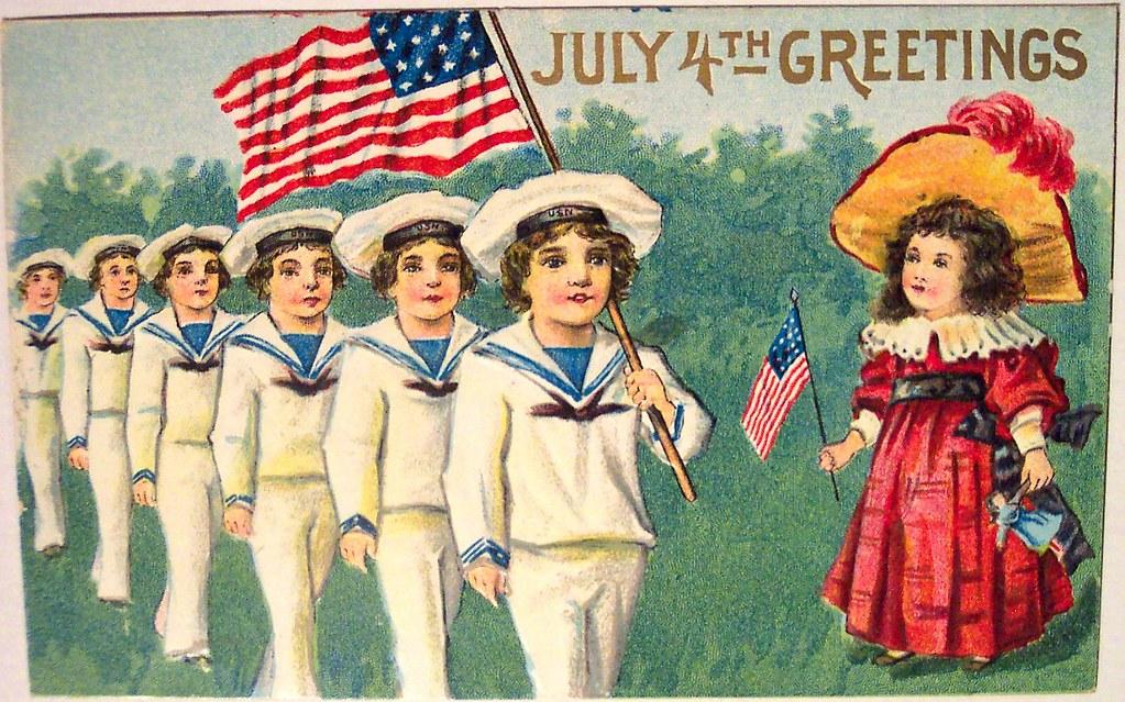 Vintage 4th of July Postcard | Dave | Flickr