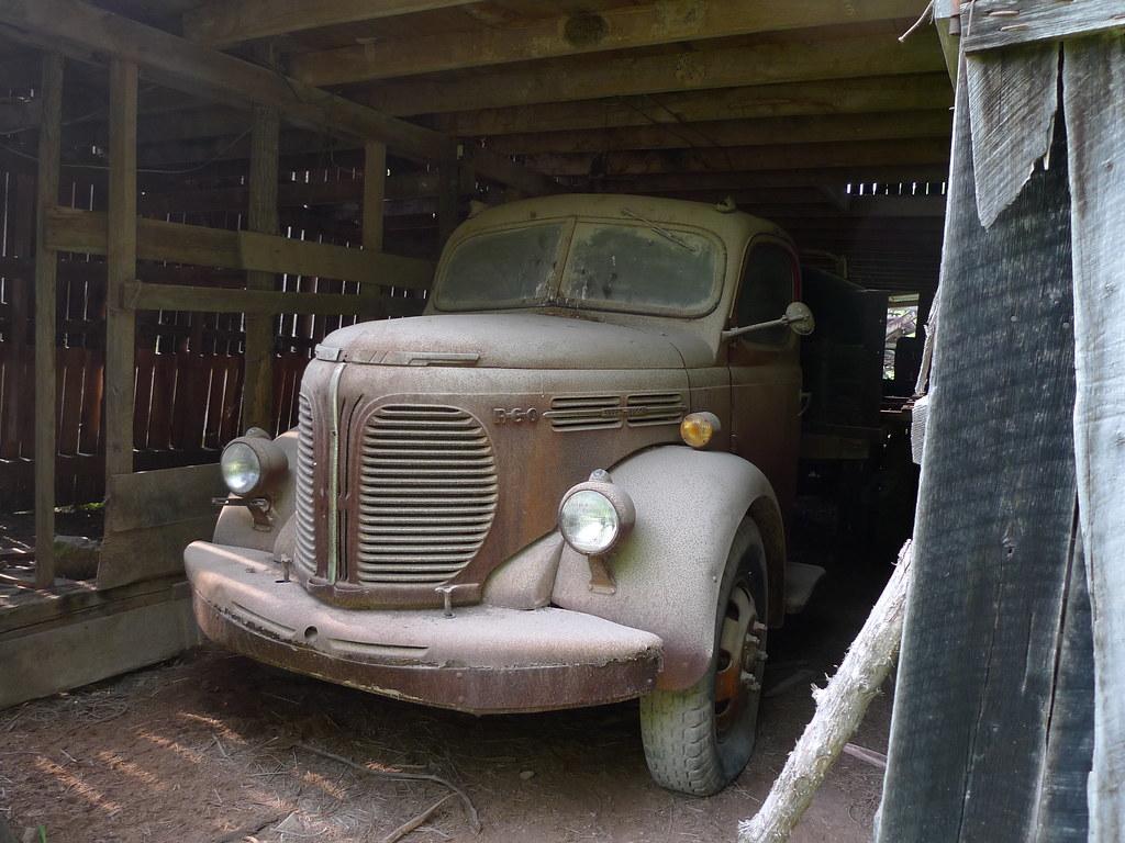 Truck in Barn