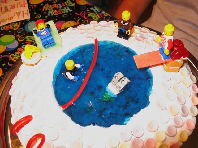 Awe Inspiring Swimming Pool Birthday Cake Swimming Pool Birthday Cake Flickr Personalised Birthday Cards Vishlily Jamesorg