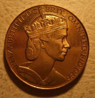 GREAT BRITAIN,  ELIZABETH II, 1953 ---CORONATION MEDALLION b