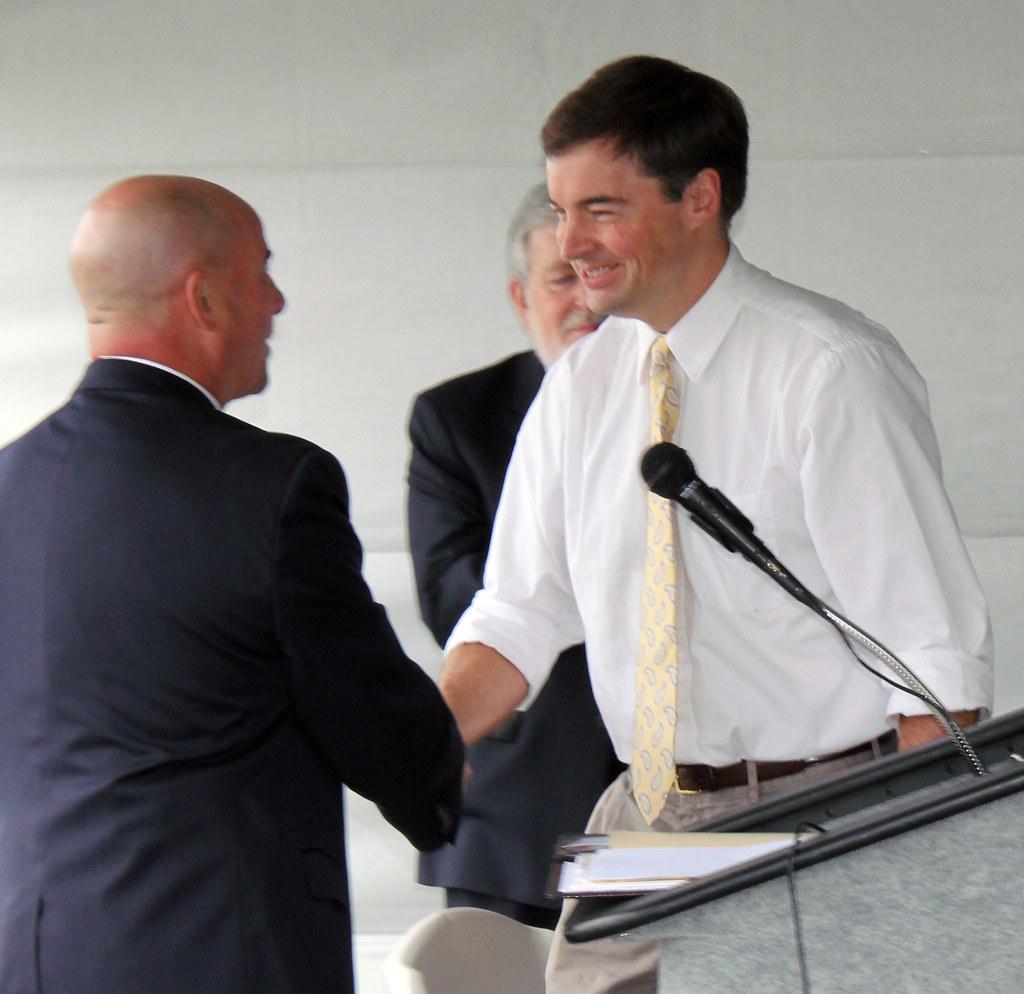 Mayor Steven Detrick introducing Dr  Andrew Hudnut, M D , …   Flickr