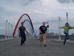 Fun on the Expo Bridge
