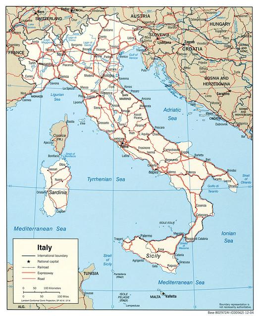 Mapa Politico De Italia Siete Maravillas Flickr