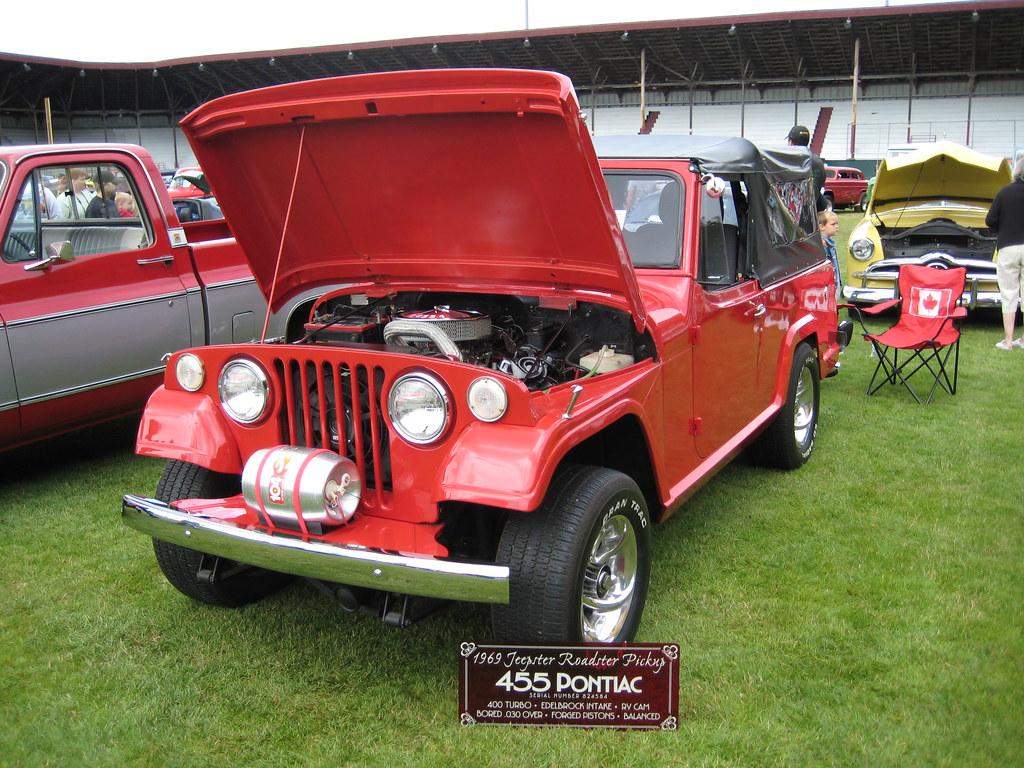 1969 Jeepster with big Pontiac engine | Push Rods Car Club, … | Flickr
