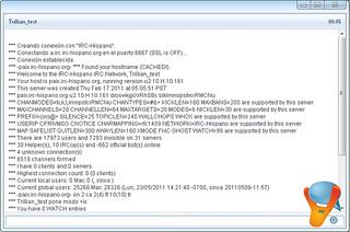 Trillian, pantalla de status en el Chat IRC Hispano | Flickr