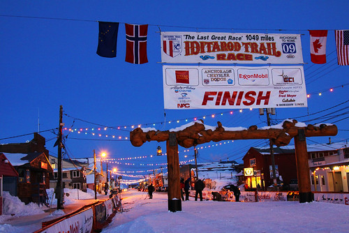 End of the 2009 Iditarod, Nome, AK