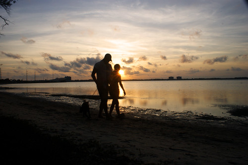sunset beach couple sony panamacity a350