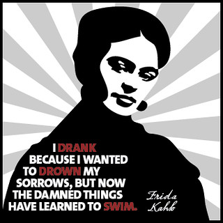 Frida Kahlo on drinking