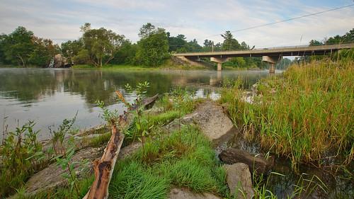 morning bridge ontario water sunrise river mississippi dawn dam shoreline hydro