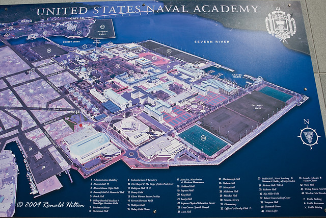 Naval Academy Map Naval Academy Campus Map | US Naval Academy; Annapolis, Mary… | Flickr