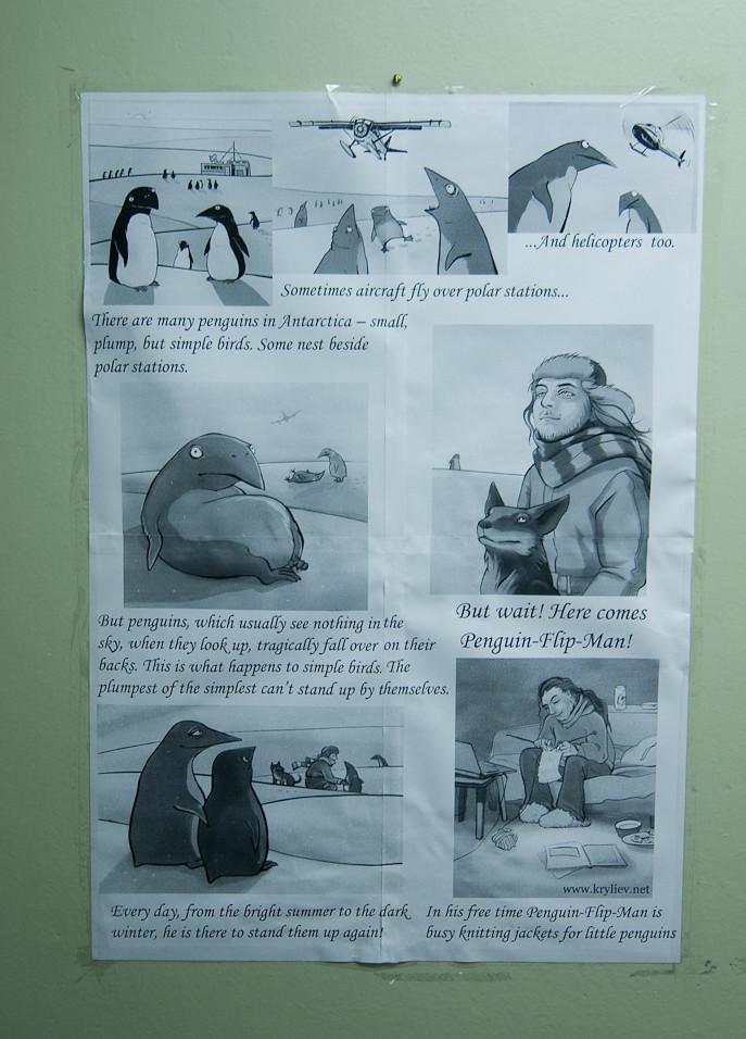 Penguin Flip Man