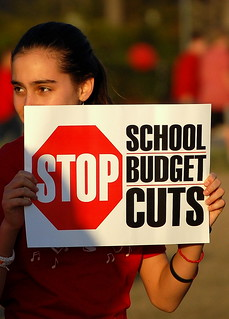 Stop School Budget Cuts   by Travelin' John